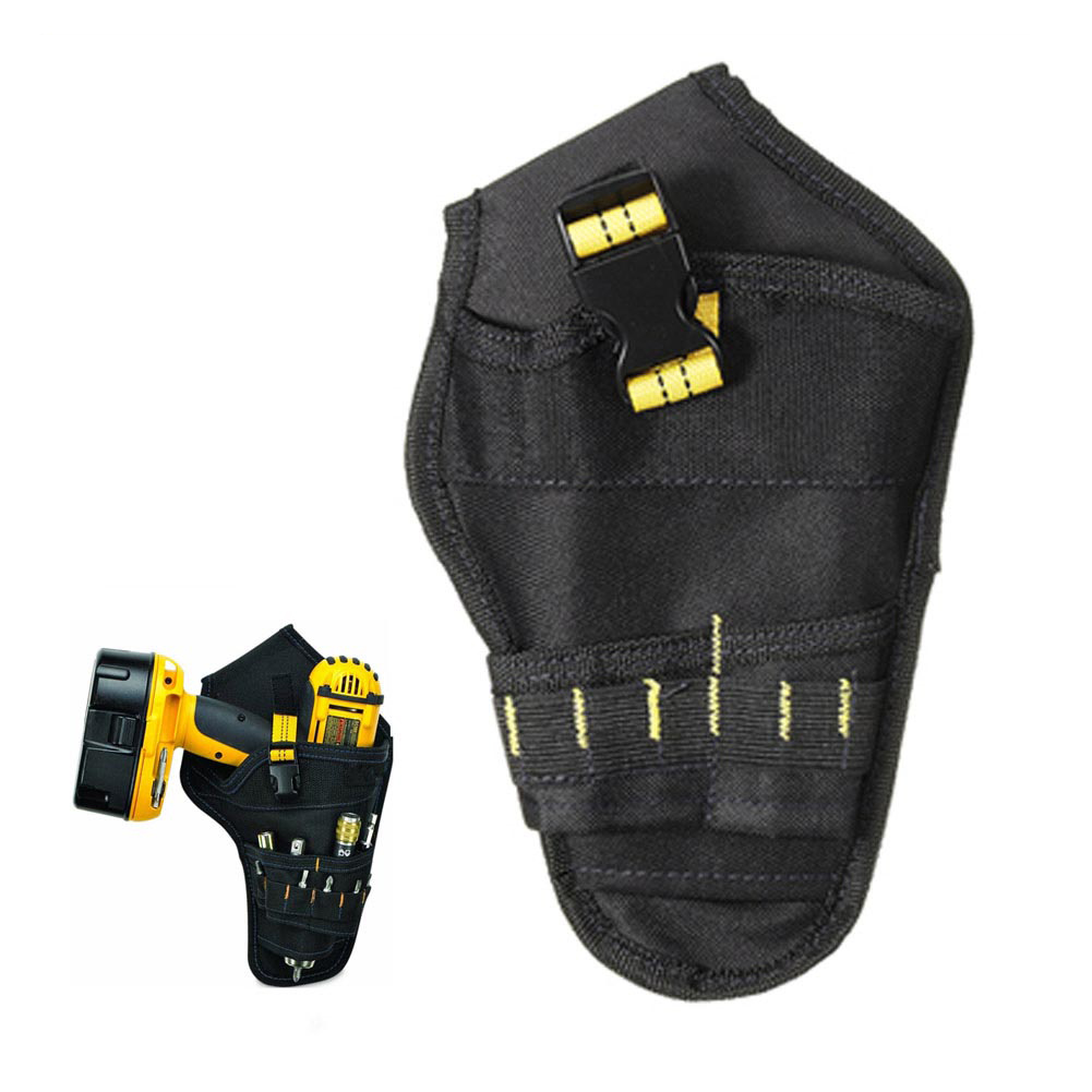 Heavy-duty Drill Holster Tool Belt Pouch Bit Holder Hanging Waist Bag Drill Tool Storage Bags TY53
