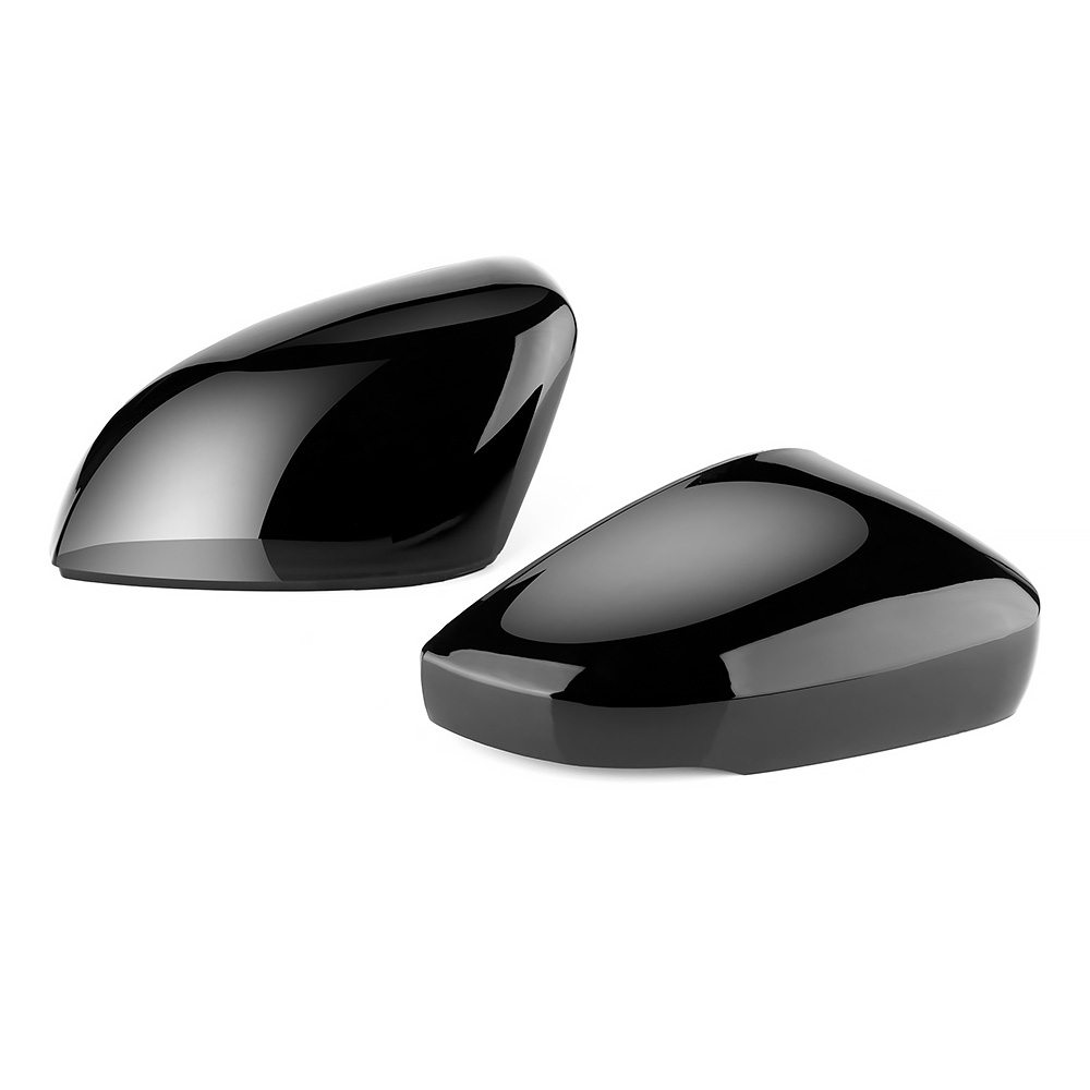 2 pieces Side Wing Mirror Cover Caps Replacement Caps Shell Glossy Black For VW <font><b>Golf</b></font> 6 MK6 GTI 6 R20 <font><b>Golf</b></font> 6 <font><b>R</b></font> Touran image