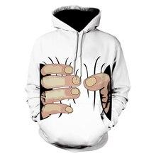 Hot Sale 3D Big Hand Printed & Bone Pattern hoodie Men C