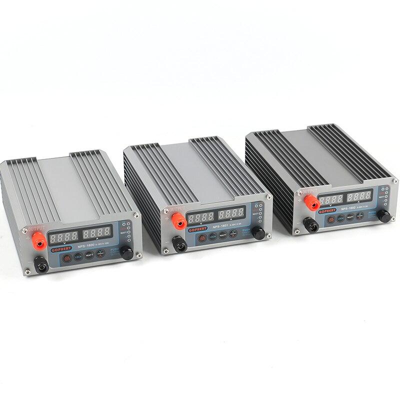 NPS-1600 NPS-1601 NPS-1602 32V 5A 60V 3A 16V 10A réglable DC alimentation régulée tension constante source de courant WATT
