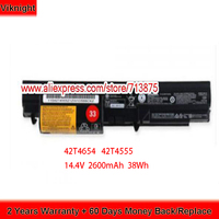 Genuine 14.4V 38Wh FRU 42T4654 ASM 42T4555 Battery For Lenovo T400 R400 R500 T500 R61 T61 Laptop