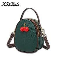 XDBOLO 2019 Fashion Shoulder Bag Leather Handbag Small Flap Women Messenger Bags Genuine Leather Crossbody Bags Ladies Purse