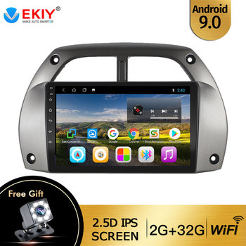 EKIY For Toyota RAV4 2001 2002 2003 2004 2005 Auto Radio 2din Android 9 DVD Car Multimedia Video Player Stereo Navigation GPS BT image
