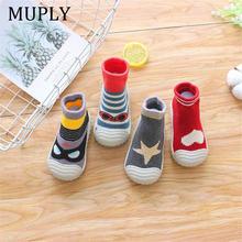 Детская нескользящая обувь хлопковые нескользящие носки тапочки