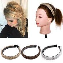 Benehair Synthetic Hair Twist Hair Bands Fashion Braids Hair Accessories Women Bohemian Plait Elastic Headband Bezel Headwear