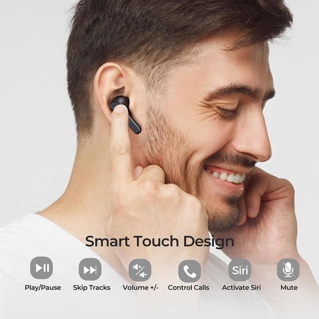 Mpow Mbits S TWS Bluetooth Earphones True Wireless Earbuds with CVC8.0 Noise Cancellng Mic Deep Bass IPX8 Waterproof for Phone 5
