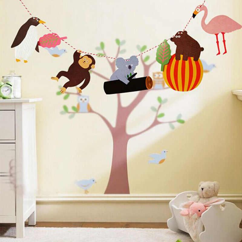 Festa de aniversário pendurado bandeiras ins estilo crianças enviado anime animal dos desenhos animados figura quarto pendurado decoração papel pendurado bandeira arti