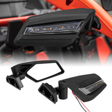 Para can-am maverick x3 max x ds turbo r maverick max 1000 maverick x3 utv kemimoto espelho retrovisor com led luz de gerencio