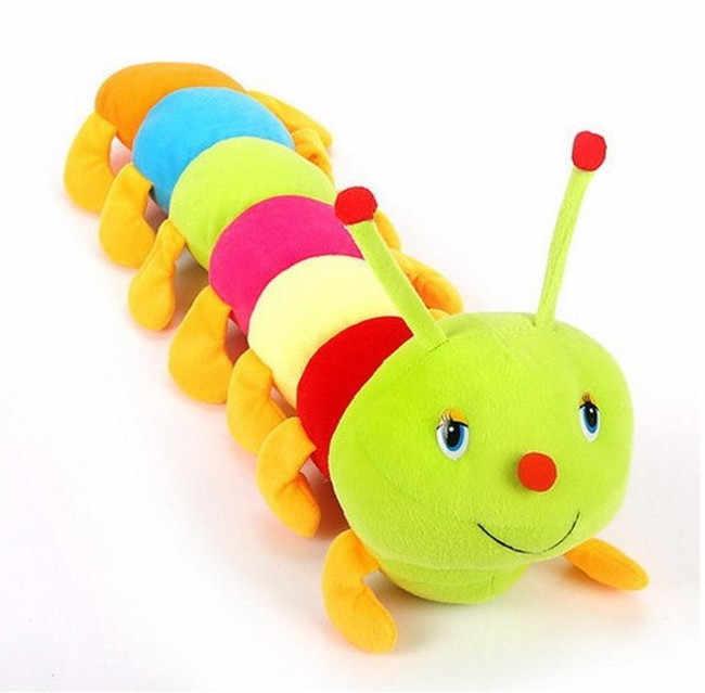 カラフルな毛虫ムカデ大昆虫人形バレンタインの日子供のギフトぬいぐるみ