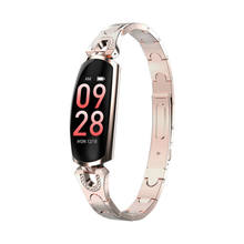 Women's Smart Bracelet Bluetooth IP67 Waterproof Heart Rate Monitoring Pedometer Calorie Smart Watch Camera Remote Control Clock(China)