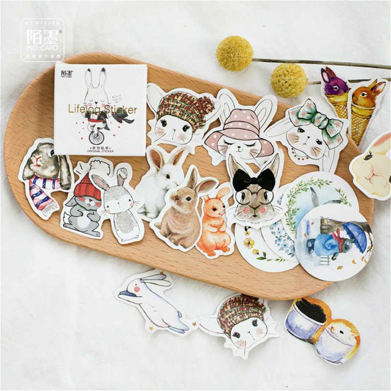 45 יח'\קופסא מכתבים מדבקות חתול טופר DIY Planet דביק נייר Kawaii חיות נוף מדבקות קישוט יומן רעיונות