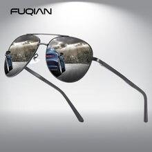 Солнечные очки авиаторы fuqian поляризационные для мужчин и