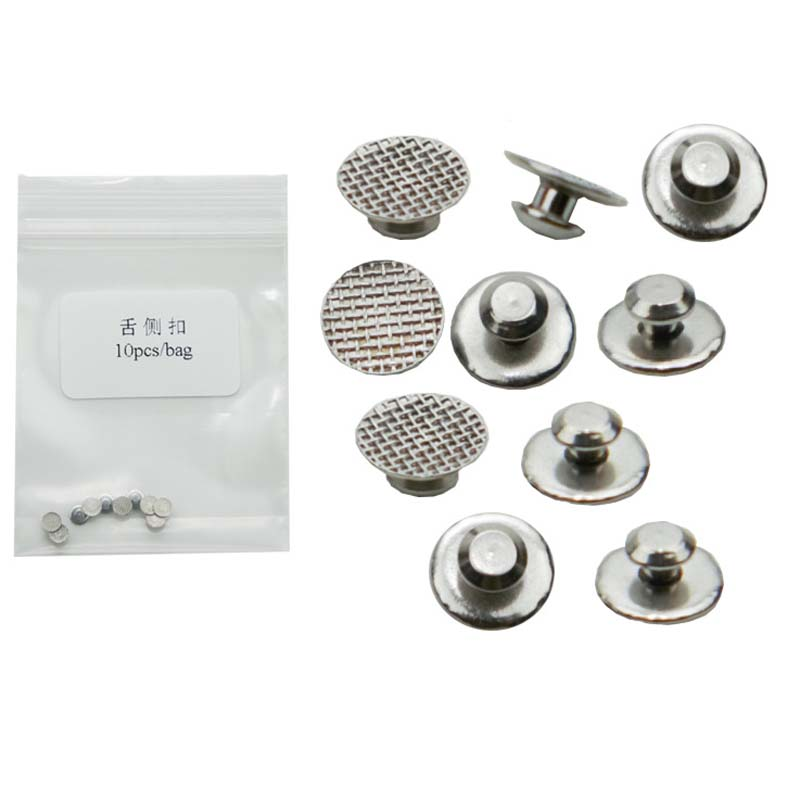 30 Pcs Orthodontic Lingual Buttons Bondable Round Base Invisible Dental Lingual Buttons Composite Orthodontic Lingual Buttons