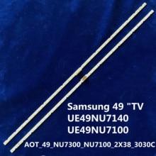 "38 listwa świetlna LED do Samsung 49 ""TV AOT_49_NU7300_NU7100_2X38_3030C_d6t 2d1_19S2P rev. V4 UE49NU7140 UE49NU7100"