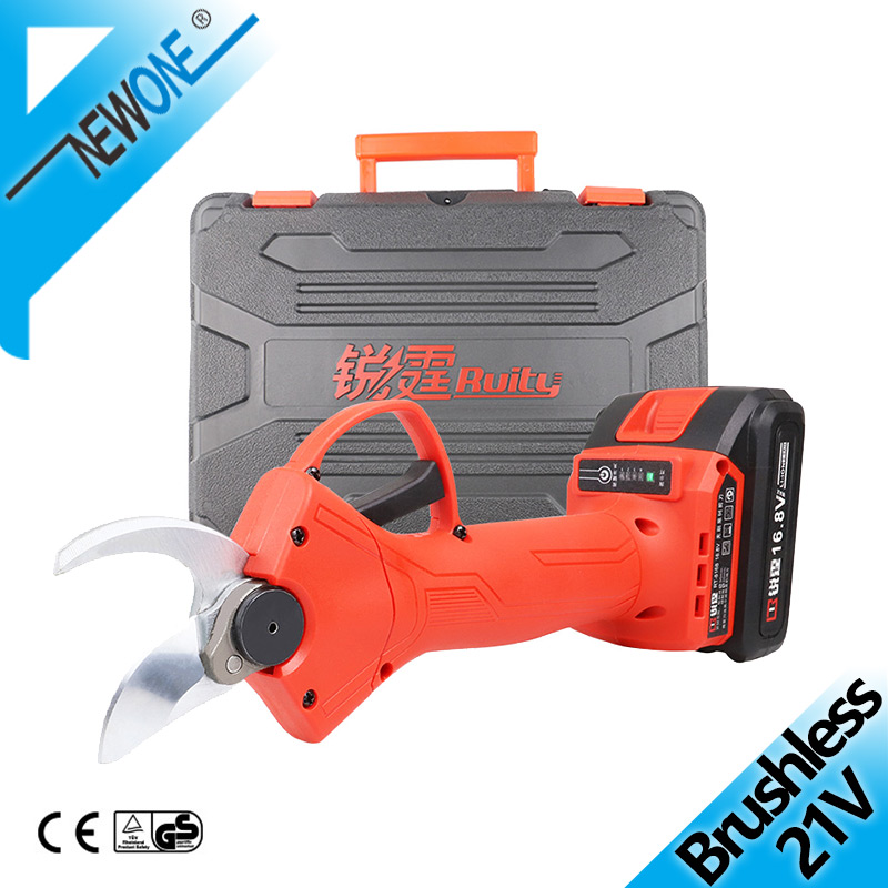 21V Brushless Electric Pruner And Rechargeable Electric Garden Scissors For Trimming Hedges Or Solitary Shrubs And Bypass