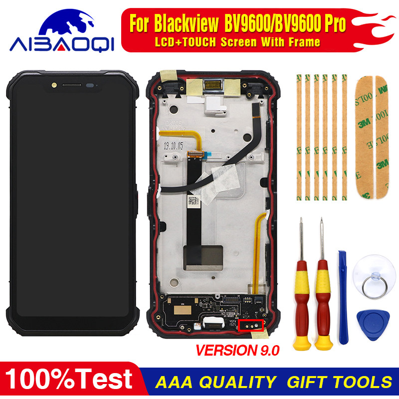 Smartillumi for Repair Part LCD Screen and Digitizer Full Assembly for Blackview BV9700 Pro