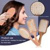 Wood Comb Extremely Elastic Soft Air Sac Orifice Professional Healthy Paddle Cushion Massage Hairbrush Scalp Hair Care 1