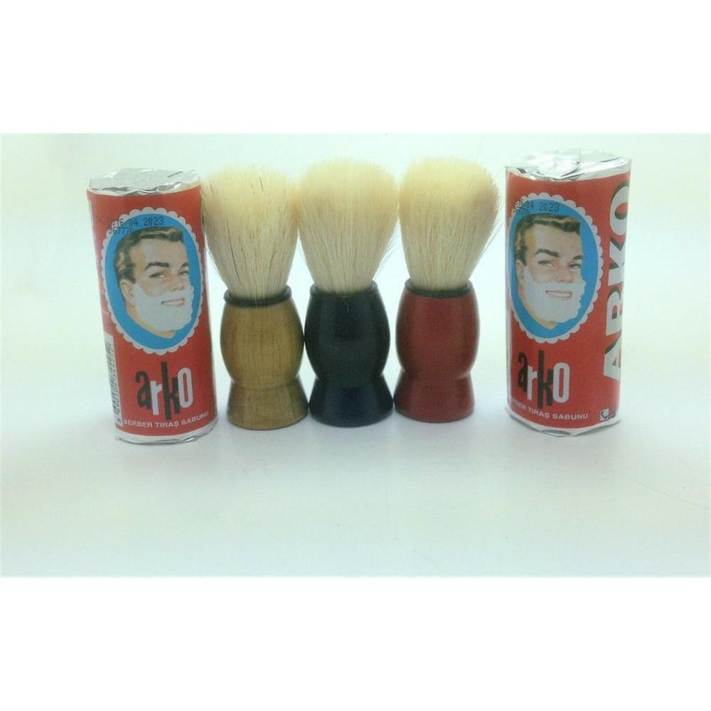 3 Color Mini Travel Brush Black Red Brown N Arko Soaps Multiple Buying Options