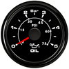 52mm Pointer Oil Pressure Gauges 0-5Bar Waterproof Oil Pressure Meters 0-75psi LCD for Auto Truck Boat Vessel Yacht RV discount