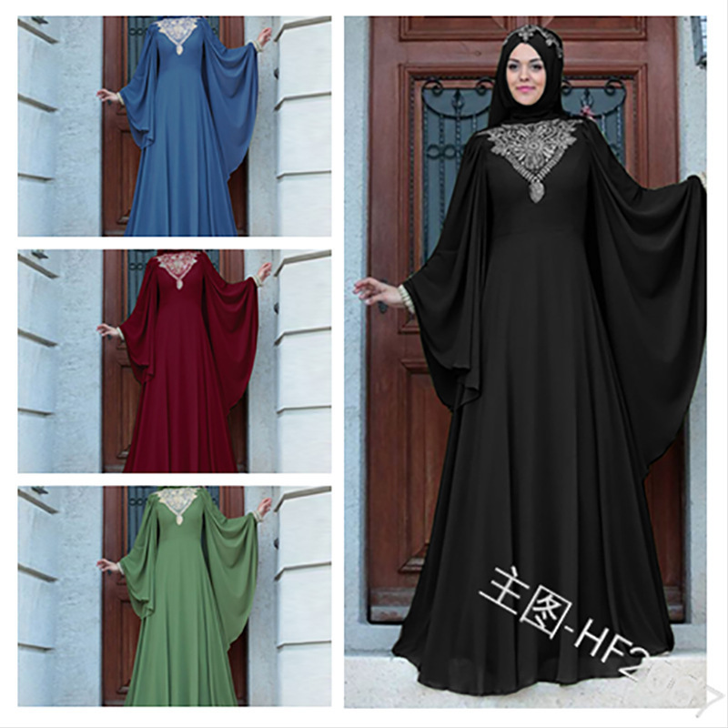 Muslim Abaya Lace Dress Cardigan Long Robe Gowns Kimono Jubah Ramadan Middle East Thobe Worship Service Islamic Prayer Clothing