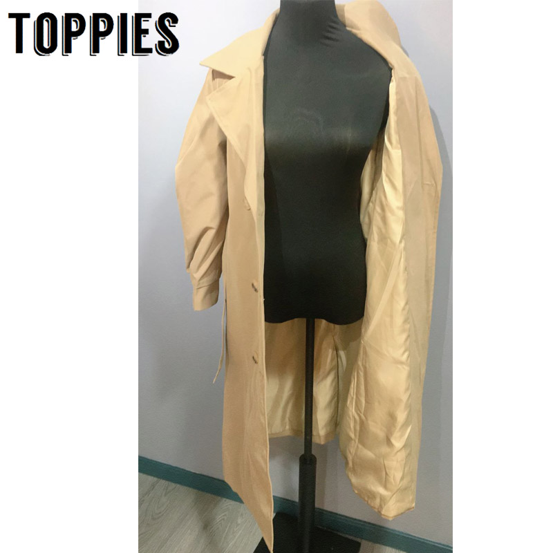 Windbreaker Women Trench Coat Belt Waist 2019 Autumn Double Breated Oversize Long Coat Lady Streetwear Korean
