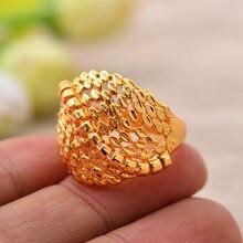Annayoyo Trendy 24k Gold Farbe Ring für Frauen Mädchen Schmuck Party Artikel Ringe