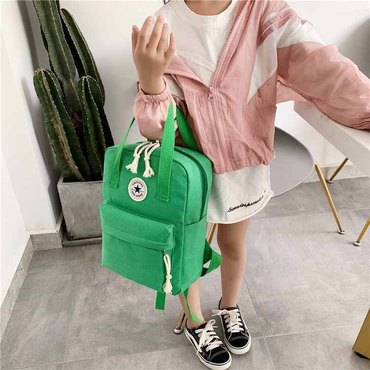 New Style Korean-style Fashion Men And Women Children Children Canvas Multi-functional Hand Backpack Sports Small Book Bag Men A