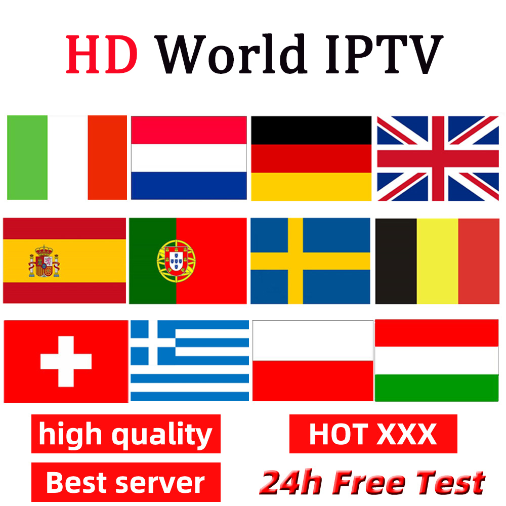 IPTV For Europe Canada USA Sports XXX Support Smart TV Adroid M3u Netherland IPTV German Portugal Italy Smart IPTV Subscription