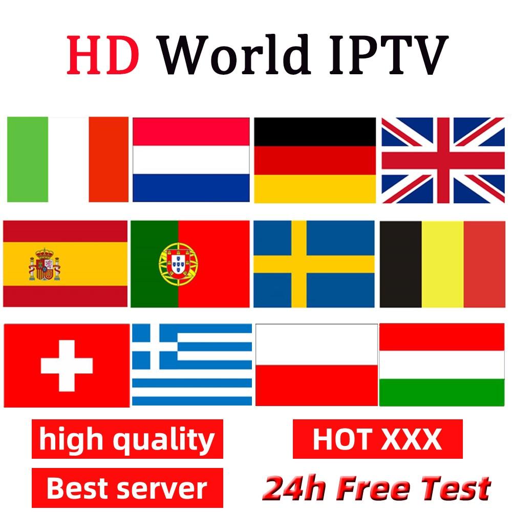 IPTV For Europe Canada USA Sports XXX Support Smart TV Adroid M3u Netherland IPTV German Portugal Italy Smart IPTV Subscription