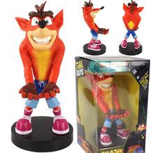 Figura dos desenhos animados crash bandicoot telefone & controlador titular modelo figura pvc collectible figurals brinquedo presente para crianças