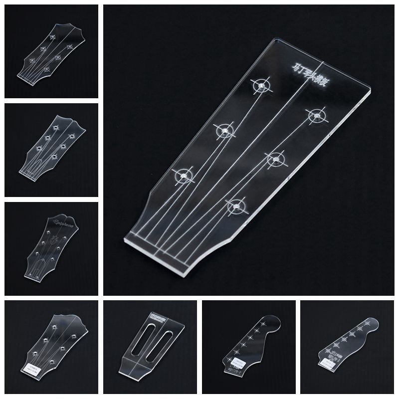 Guitar Head Template Electric Guitar Acoustic Guitar Ukulele Transparent Acrylic Template Guitar Making Mold