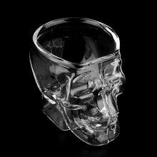 Популярный минимини череп голова стеклянный Кубок для виски чашка виски винный бар и стакан