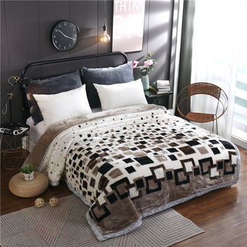 Blanket Raschel blanket red thicken double layer winter blanket blankets for beds  christmas decorations for home