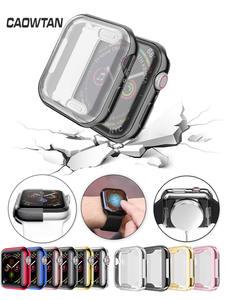 Ceas-Cover-carcasa protector iWatch Apple Slim 42mm 44mm pentru 5/4/3-2/1-Band-caz 38m 40mm