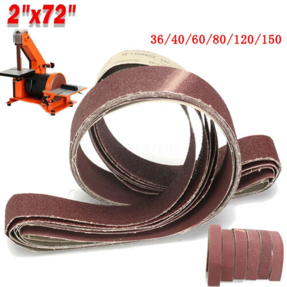 6pcs Sanding Belt 5*182 Cm For Grinding  36/40/60/80/120/150Grit Sandpaper Pack