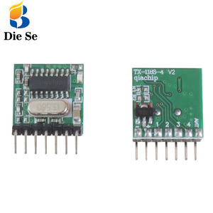 Image 4 - 433Mhz Superheterodyne RF Receiver and Transmitter Module with antenna for Arduino DIY Kit 4 Ch output With Learning Button