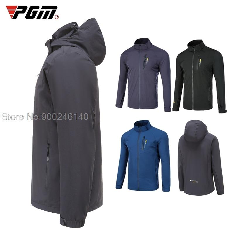 Winter Autumn New Golf Windbreaker Full Men's Clothes Hooded Leisure Golf Jacket Man Windproof Waterproof Warm Sports Coats