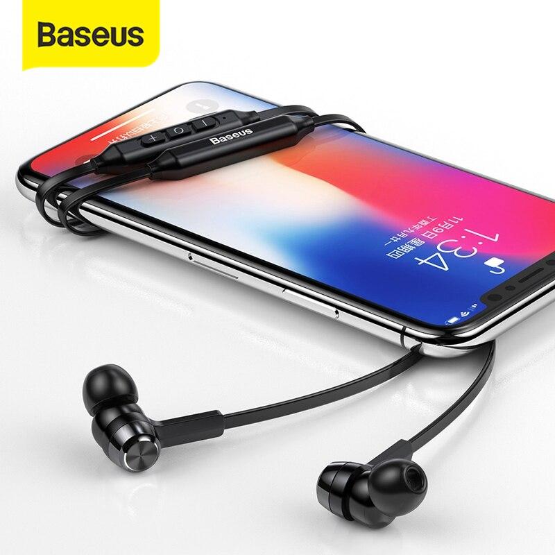 Baseus-auriculares S06 inalámbricos con Bluetooth, dispositivo estéreo con micrófono, para Xiaomi y iPhone