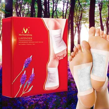 20pcs Lavender Detox Foot Patches Pads Nourishing Repair Foot Patch Improve Sleep Quality Slimming Patch Loss Weight Care 100pcs patches adhesives detox foot patch bamboo pads patches with adhesive improve sleep beauty slimming patch relieve stress