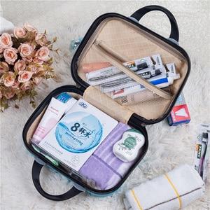 Image 3 - Women Professional Makeup Bag Suitcase Waterproof Travel Cosmetic Bag Beautician Toiletries Organizer Female Make up Bags Case