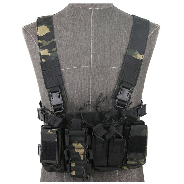 Functional Tactical Chest Bag Airsoft Hunting Vest Waist Pack Military Magazine Radio Harness Pouch Holster Army Chest Rig Bag 1