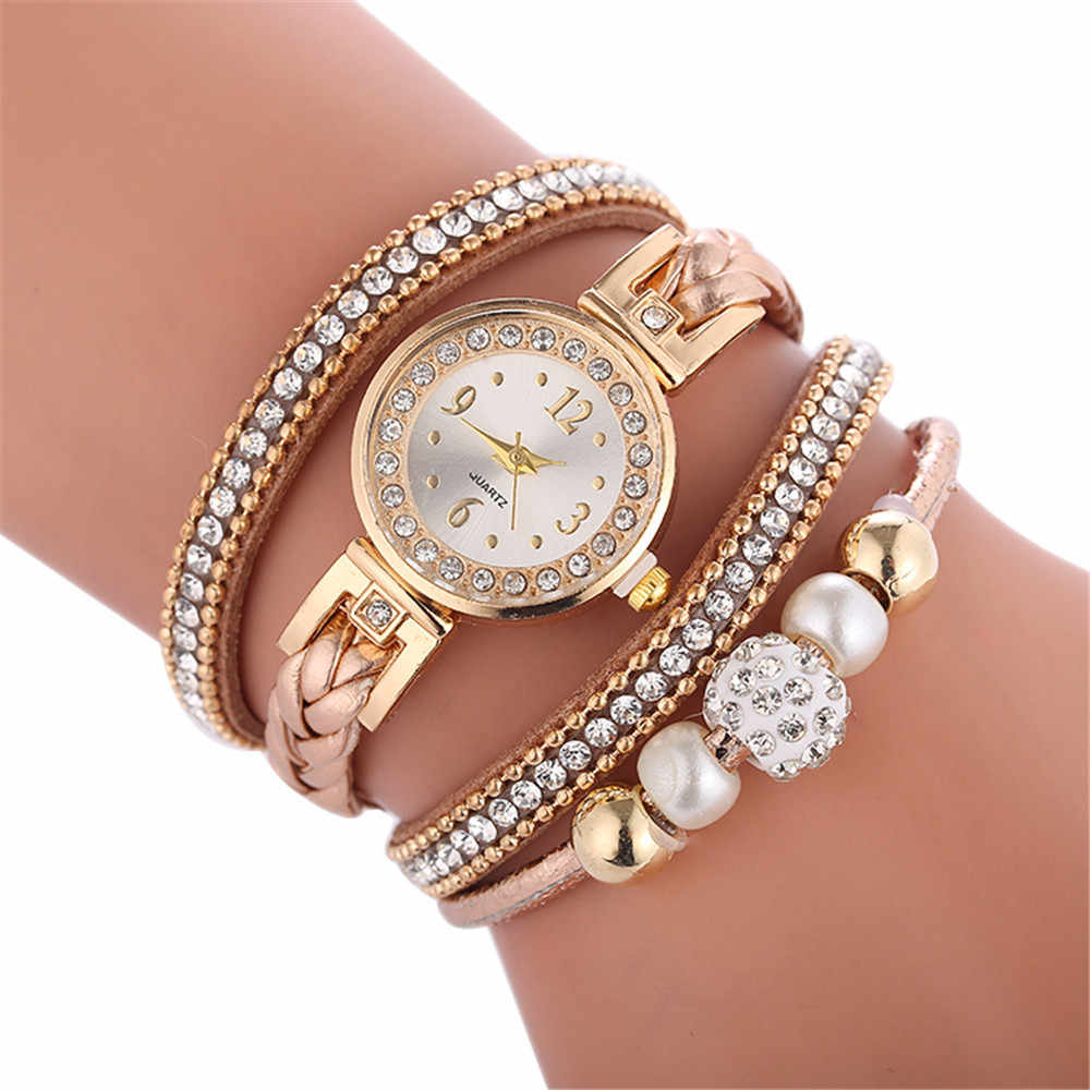 Beautiful fashion bracelet watch ladies watch diamonds English watch circle bracelet watch round watch relogio feminino 50%