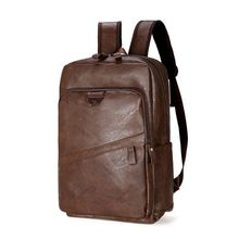 Fashion Men Women's Large Capacity Backpack PU Leather Travel Bag Teenager Student Bookbag Laptop Daypack