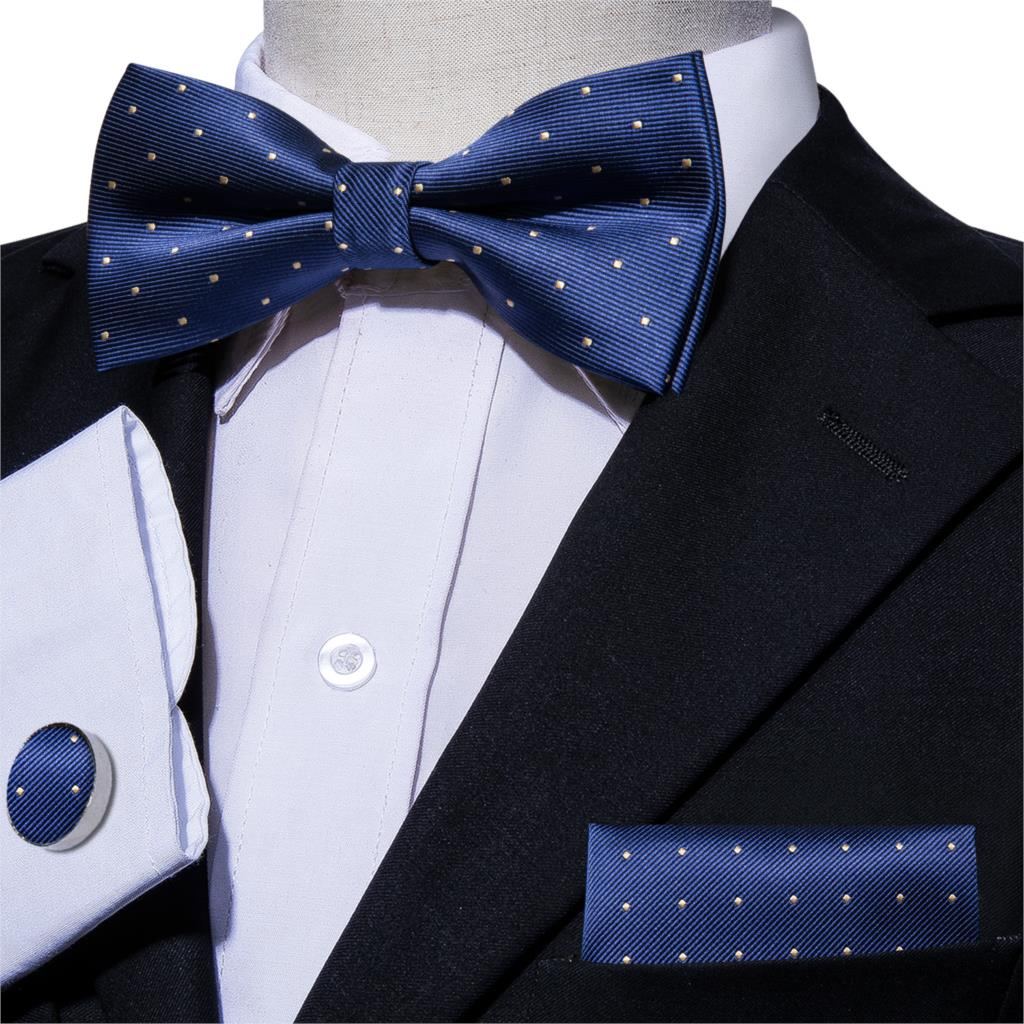 4 Pcs Formal Bow Ties for Men Self Tie Bowtie Tuxedo Wedding Bow Tie Bowties Black Navy Red Green