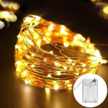 Fita branca quente da corda da luz do rgb da tira do diodo da decoração do natal do quarto de 2m 5m psd pela bateria