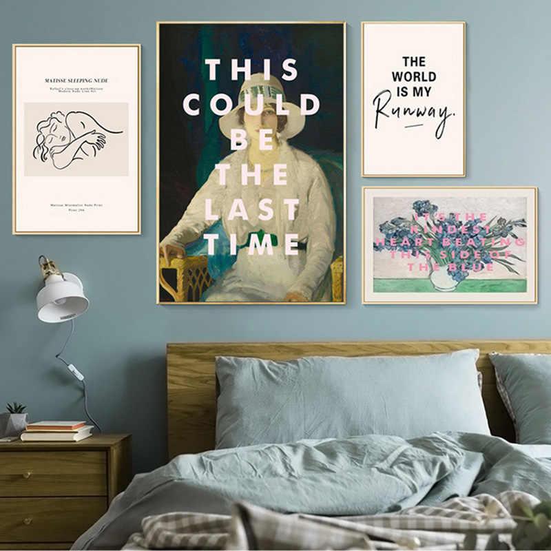 النمط الحديث ماتيس فان جوخ الفن مجردة الجدار ملصق قماش طباعة الحد الأدنى اللوحة المعاصرة زينة عتيقة الطراز الصورة