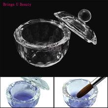 Круглая прозрачная акриловая жидкая тарелка круглой формы 1