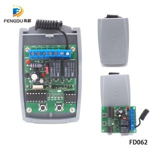 Image 5 - 2 Channel 12V 24V DC Universal RF Receiver Rolling Code Transmitter Command Garage Gate Motor Receiver 433.92mhz Wireless+remote
