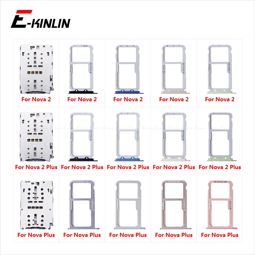 Micro SD Sim Card Tray Socket Slot Adapter Connector Reader For HuaWei Nova 2 Plus Container Holder Replacement Parts