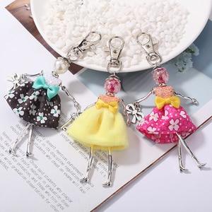 YLWHJJ brand 2020 new Doll baby cute Women keychain Car Pendant Girls Handmade fashion Jewelry Bag key chains hot key ring(China)